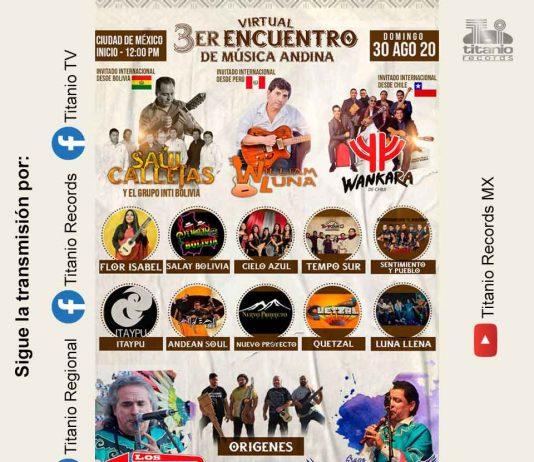 Cartel del Encuentro de Música Andina